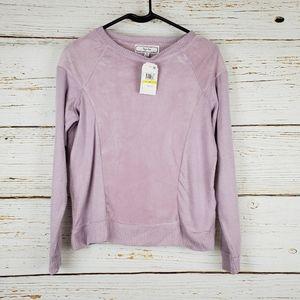 NWT Hippie Rose Lavender Velvet Sweater